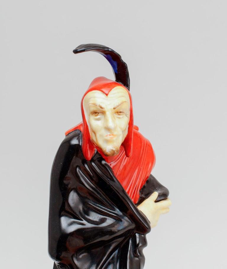 German Mephisto Figurine by Karl Tutter, Hutchenreuter, Selb Bavaria For Sale