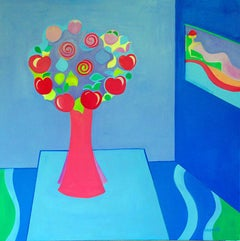 Apple by Mercedes Lasarte Oil on Canvas