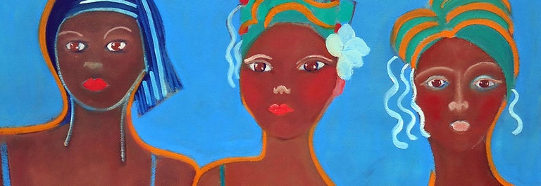 Carnaval by Mercedes Lasarte Oil on Canvas For Sale 1