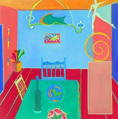 Dining Room by Mercedes Lasarte Oil on Canvas