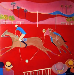 Red (Polo) by Mercedes Lasarte Oil on Canvas