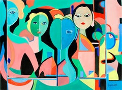 Summer Faces II by Mercedes Lasarte Oil on Canvas