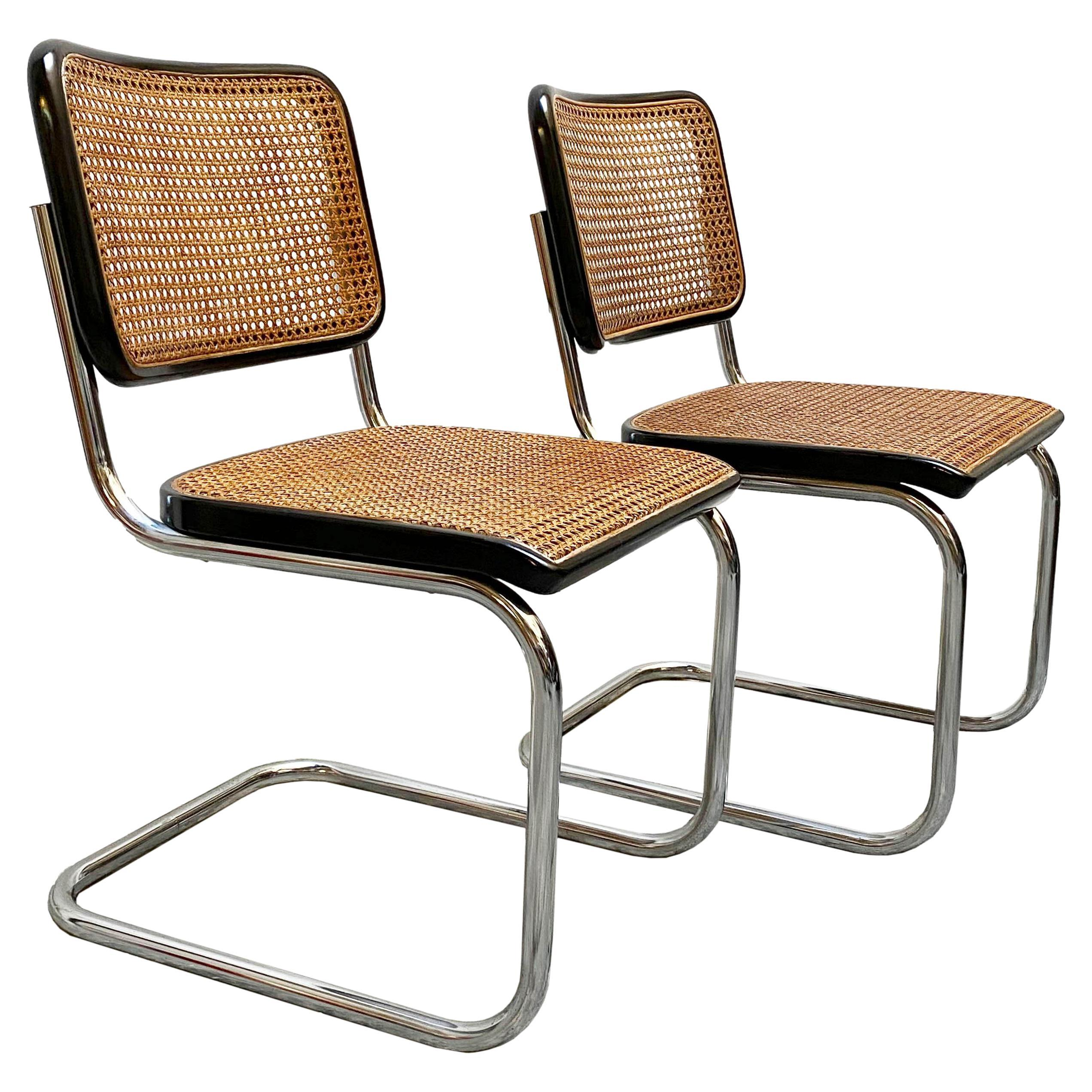 """Mercel Breuer for Thonet """"Cesca"""" Chairs, Italy, 1950s"""