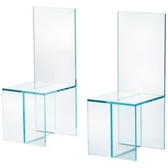 Merci Bob Chair in Transparent Extralight Glass, by Elena Cutolo for Glas Italia