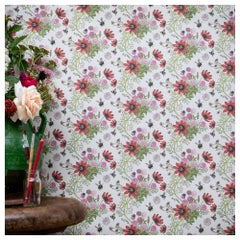 Mercia Bees in Cream Botanical Wallpaper