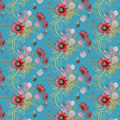 Mercia Bees in Noon Botanical Wallpaper
