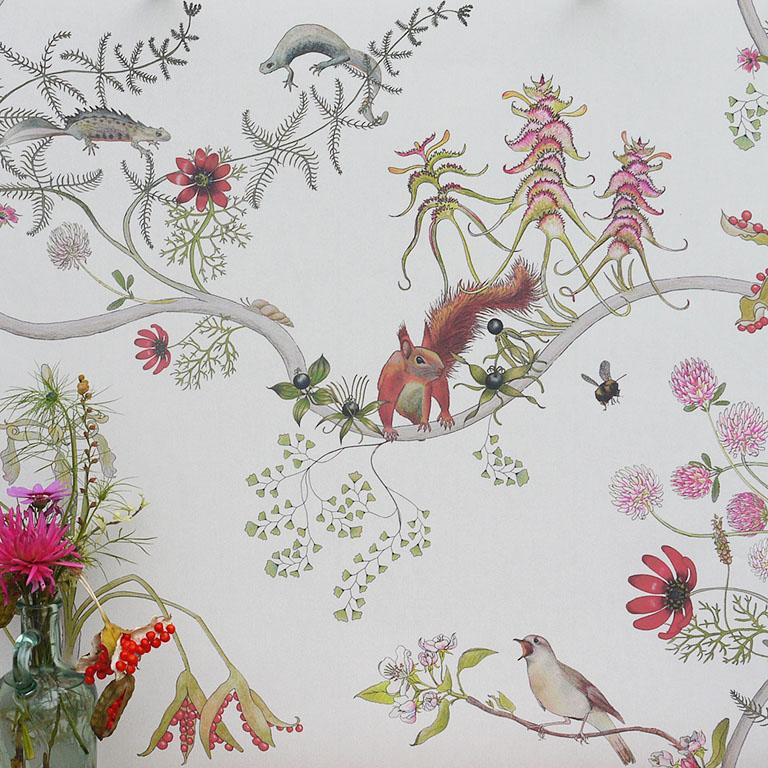 The English Mercia collection is the artist, biologist Susy Paisley's tribute to one of the greatest conservation parables ever written, The Lorax by Dr Seuss. The species in the design are based on real world English equivalents of the imaginary