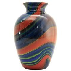 'Mercurio' Murano Glass Vase by Ottavio Missoni for Missoni, 1980s