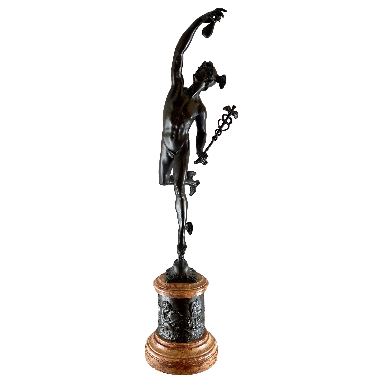 Mercurius Flying, Grand Tour Sculpture, 18th Century