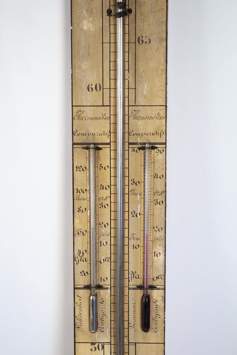 French Mercury Barometer from the 19th Century, Napoleon III Period For Sale