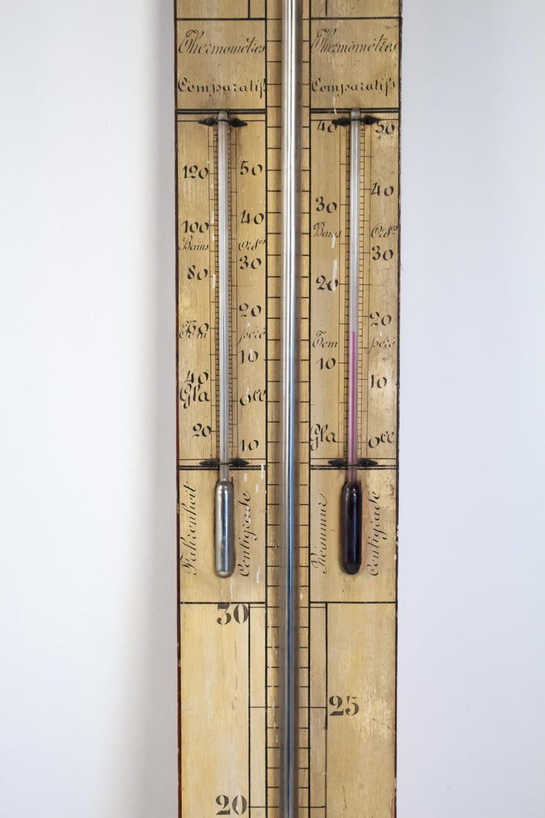 Mercury Barometer from the 19th Century, Napoleon III Period In Good Condition For Sale In Saint-Ouen, FR