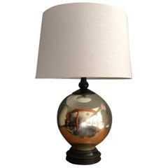Mercury Glass Ball Table Lamp