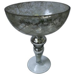 Mercury Glass Footed Bowl