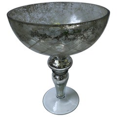 Mercury Glass Footed  Centerpiece Bowl