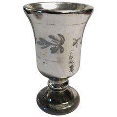 Mercury Glass Footed Cup