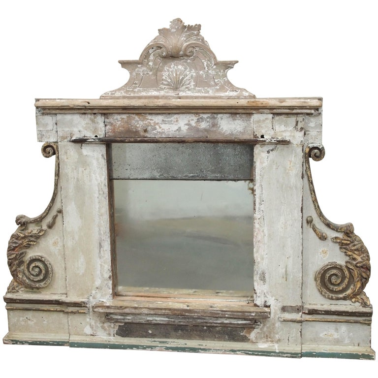 Mercury Glass Mirror, French For Sale
