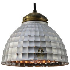 Mercury Glass Vintage Industrial Brass Pendant Light