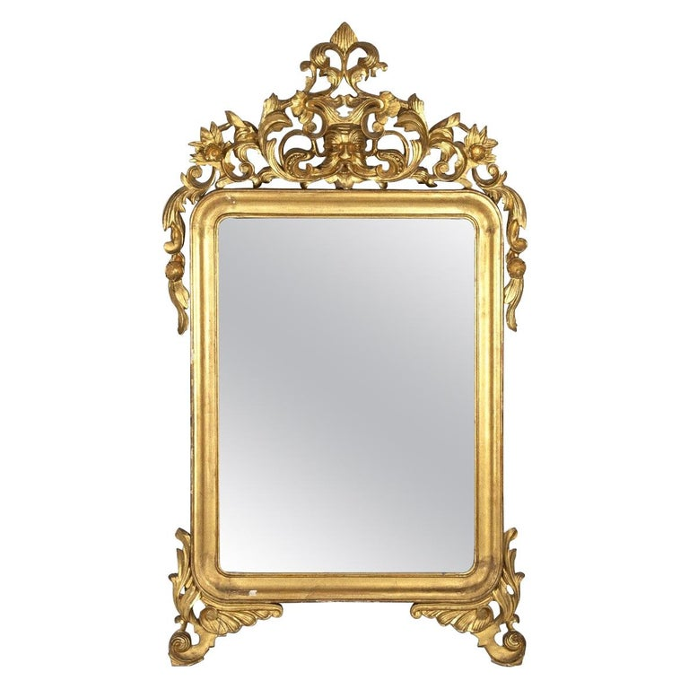 Mercury Mirror, Made in Italy, Mid-19th Century For Sale