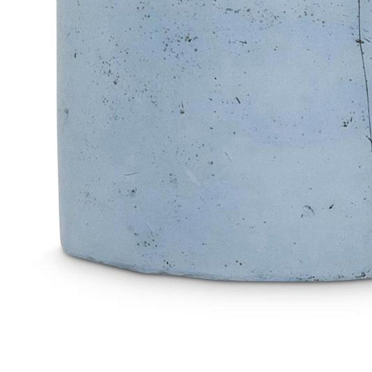 TANK (BLUE) -LOCATION 316 - Blue Abstract Sculpture by Meredith Brickell