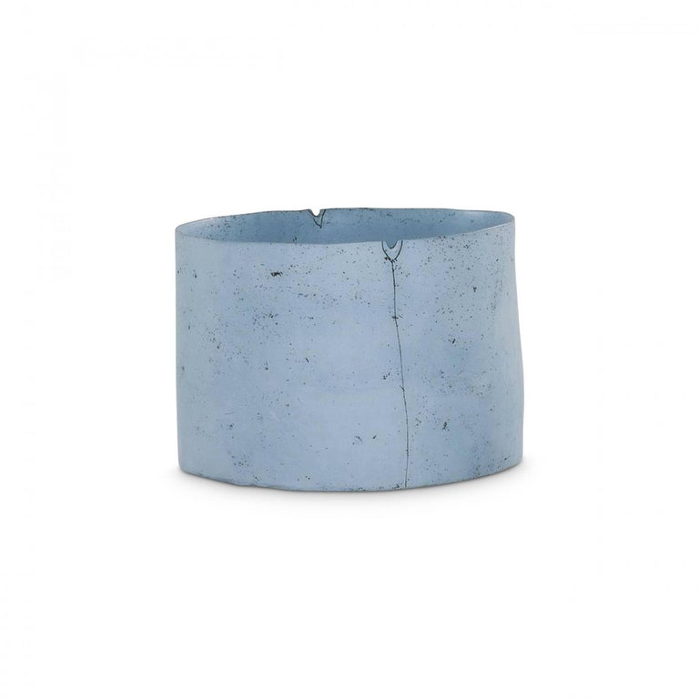 Meredith Brickell Abstract Sculpture - TANK (BLUE) -LOCATION 316