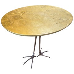 Meret Oppenheim Bronze 'Traccia' Coffee Table, Italy, 1972