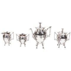 Meriden Britannia Company Victorian Silver Plate Coffee Set