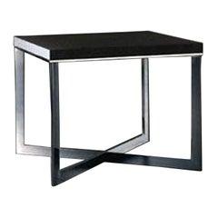Meridiani Grey Stained Oak Cross Coffee Table