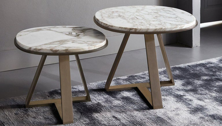 Modern Meridiani Judd, Editions Shine Low Table Designed by Andrea Parisio For Sale