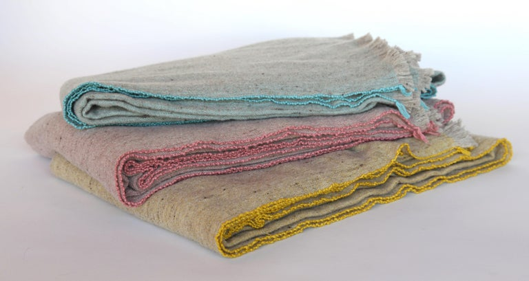 Merino Wool and Bamboo Blankets In New Condition For Sale In Los Angeles, CA