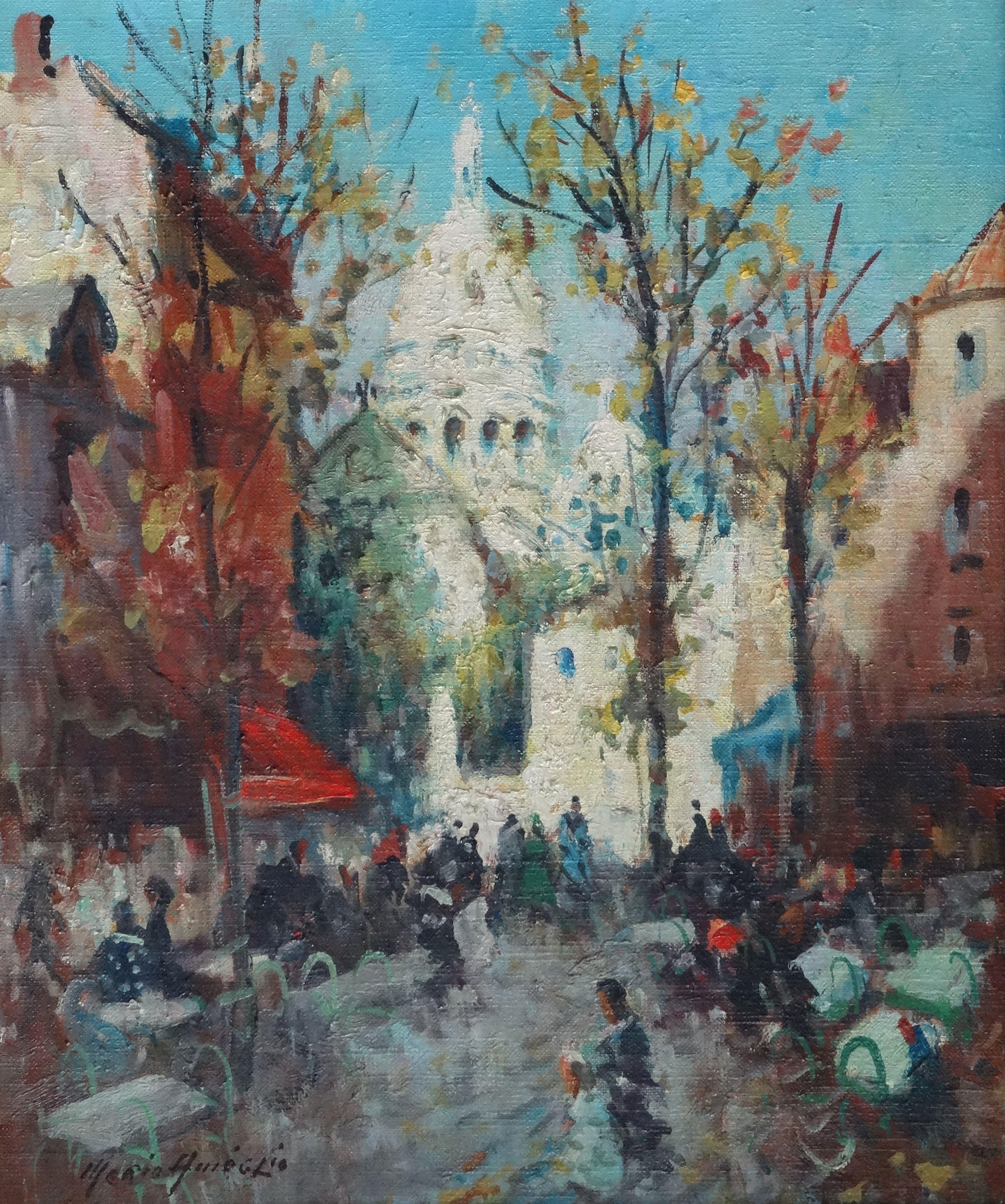 Montmartre. Oil on canvas, 55x46 cm