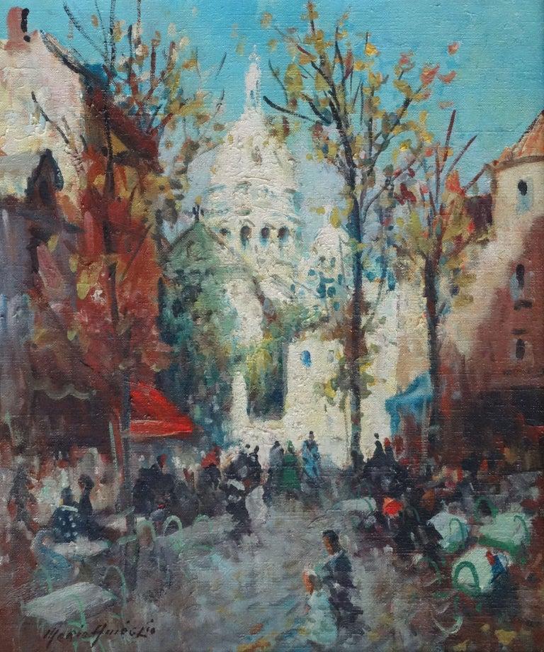 Merio Ameglio Landscape Painting - Montmartre. Oil on canvas, 55x46 cm