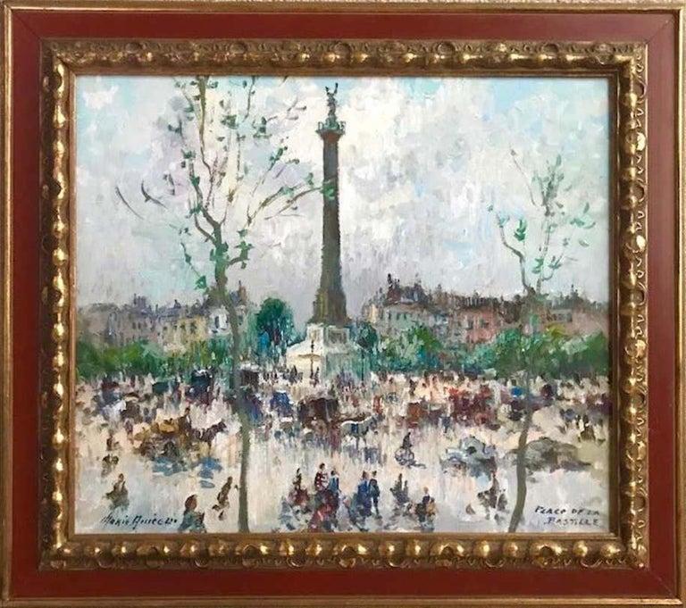 Merio Ameglio Landscape Painting - Place De La Bastille, Paris