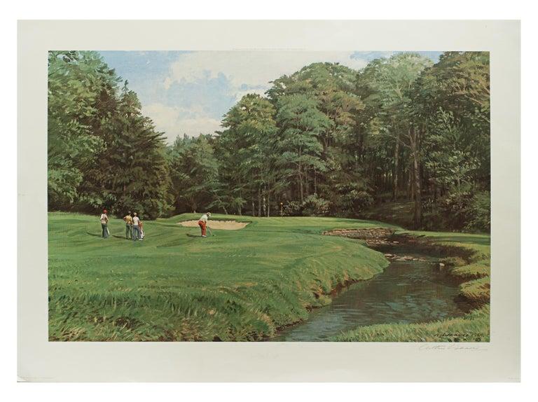 Golf Art, Merion Golf Club, Golf Print, Arthur Weaver In Good Condition In Oxfordshire, GB
