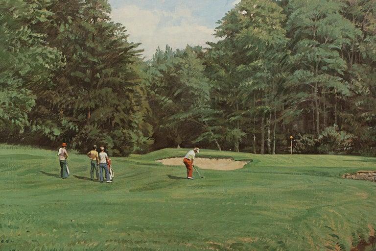 Late 20th Century Golf Art, Merion Golf Club, Golf Print, Arthur Weaver