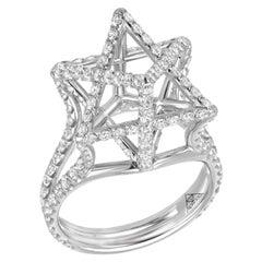 Merkaba Star Platinum Diamond Ring 2.02 Carat