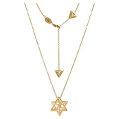 Merkaba Gold Pendant Necklace