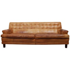 Merkur Sofa by Arne Norell in Cognac Leather, 1960s