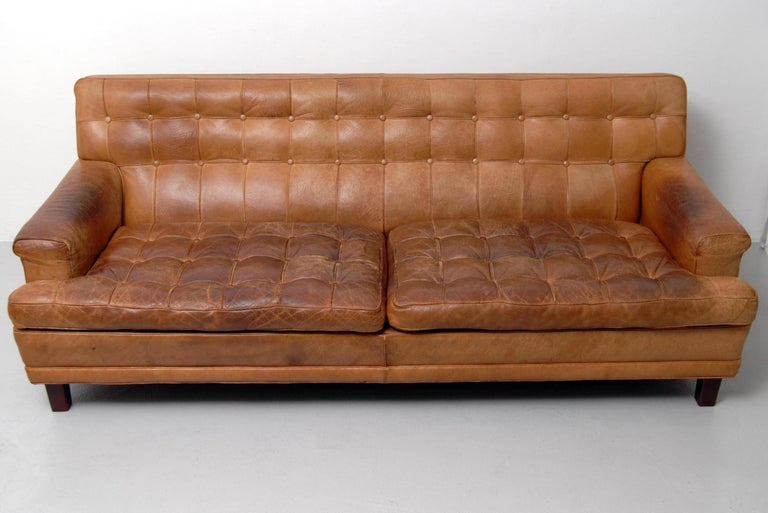 Mid-20th Century Merkur Sofas by Arne Norell in Buffalo Leather, 1960s For Sale