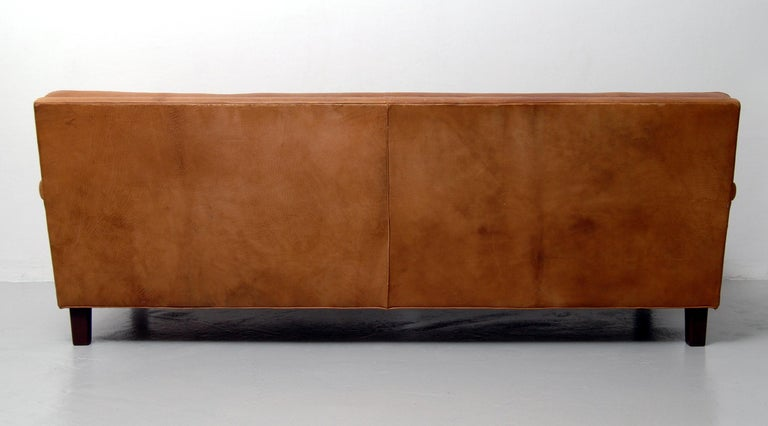 Merkur Sofas by Arne Norell in Buffalo Leather, 1960s For Sale 1