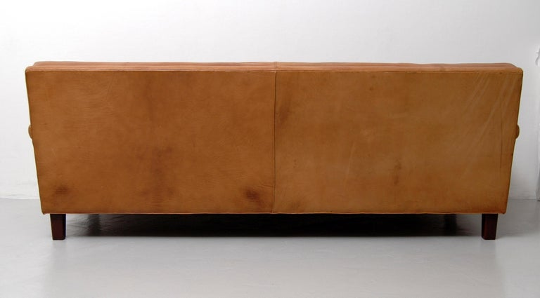 Merkur Sofas by Arne Norell in Buffalo Leather, 1960s For Sale 2