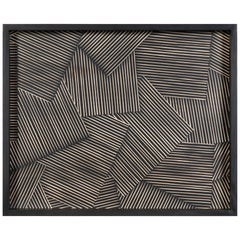 Merlin Decorative Wooden Tray with Carved Abstract Pattern by CuratedKravet