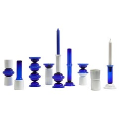 Mermerlada Estudio Blue and White Glass DNA Vases by BD Barcelona