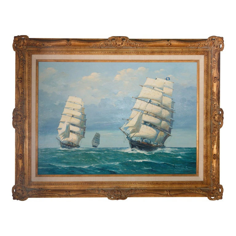 """""""Mermerus, Ben Crauchan, Cutty Sark"""" Painting by Roger Chapelet For Sale"""