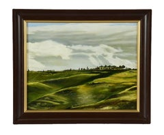 """Landscape Oil Painting by Merrill Campbell Entitled """"Tuscan Landscape"""""""