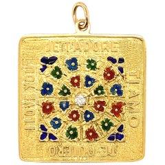 Merrin Gold Enamel & Diamond Love Charm