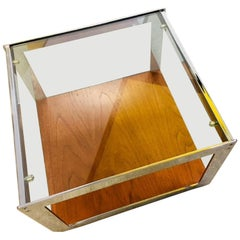 Merrow Assocs. Teak and Chrome Side Table by Richard Young, 1970s