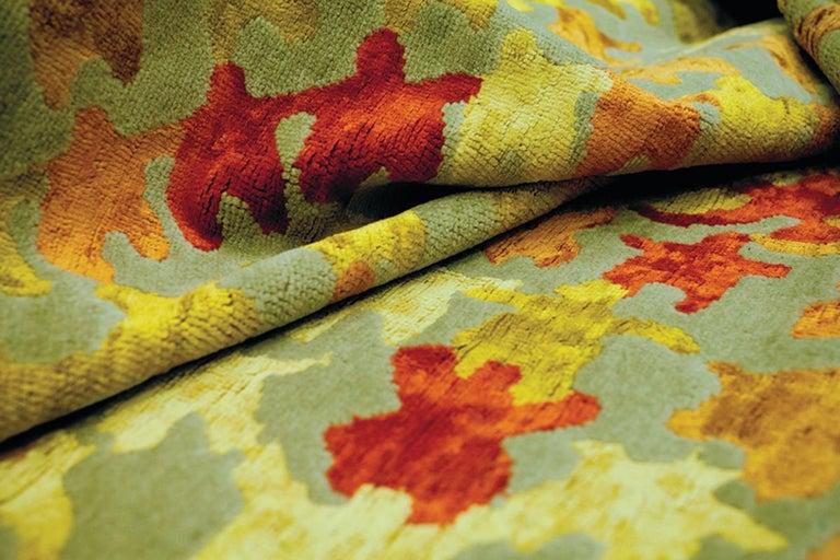 Merry Go Round Leinen und Wolle Teppich Entworfen von Aldo Cibic 2