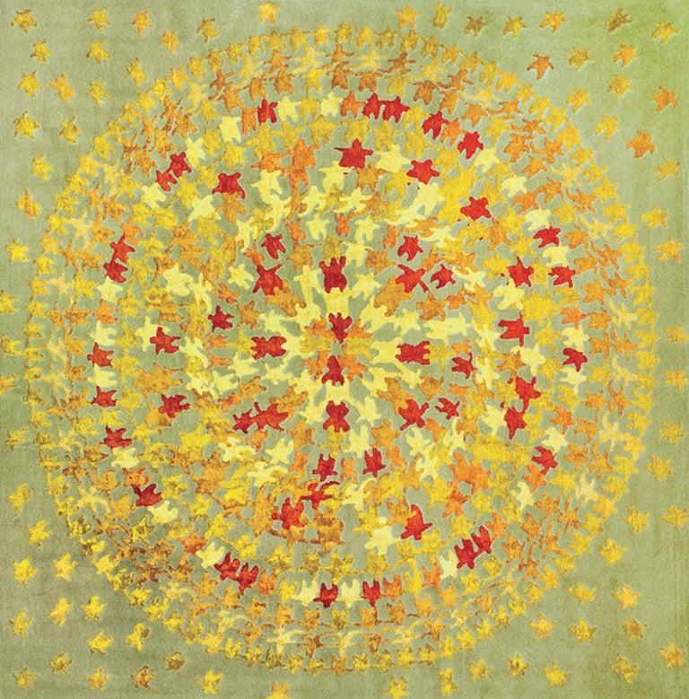 Merry Go Round Leinen und Wolle Teppich Entworfen von Aldo Cibic 4