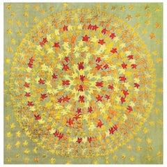 Merry Go Round Leinen und Wolle Teppich Entworfen von Aldo Cibic