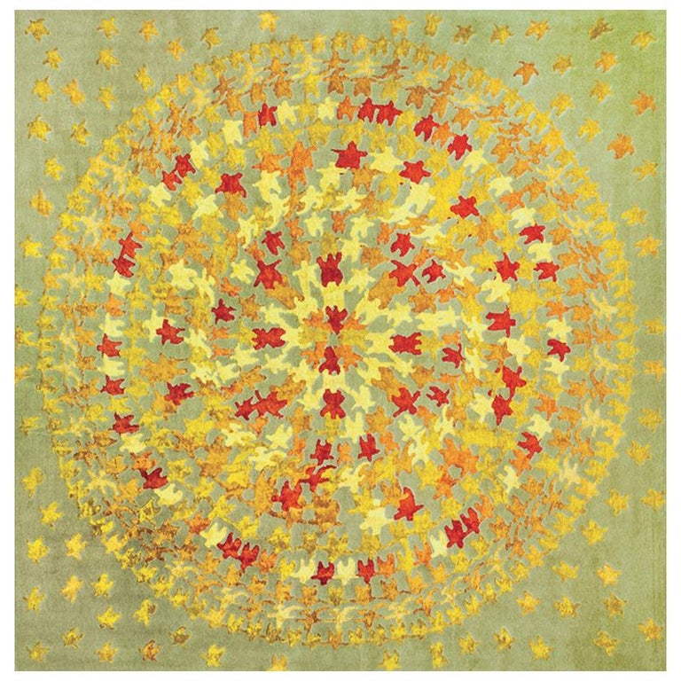 Merry Go Round Leinen und Wolle Teppich Entworfen von Aldo Cibic 1
